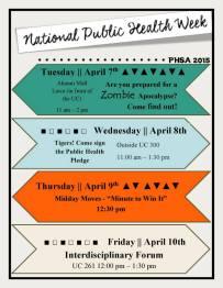 National Public Health Week 2015 Flyer